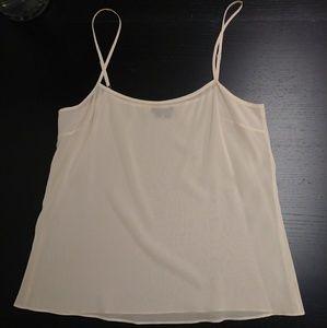 Theory Silk Blend Camisole Tank Top Sheer Medium